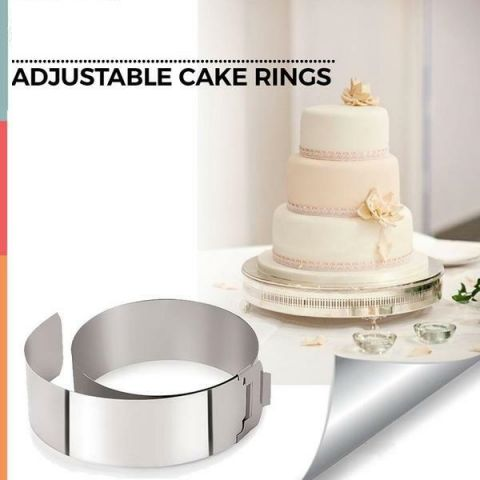 Adjustable Cake Ring With Clip