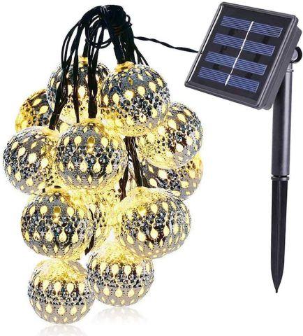 Solar Power LED Globe String Lights