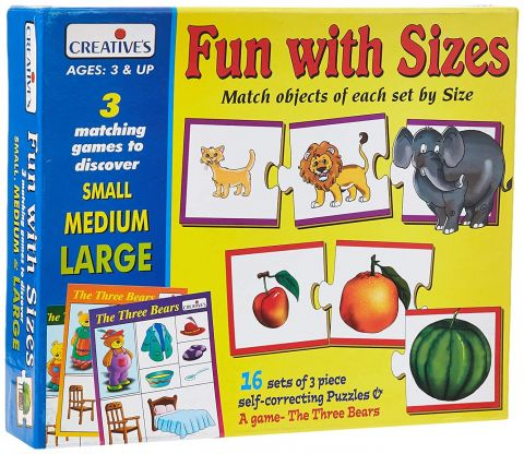 Educational Aids Fun with Sizes(48 Pieces)