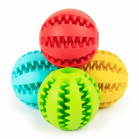 PT4 Dog Chew Ball Rubber Toy
