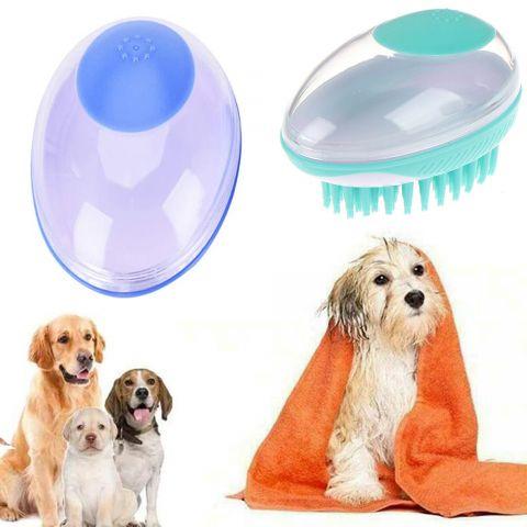 Pet Dog Bath Brush Comb