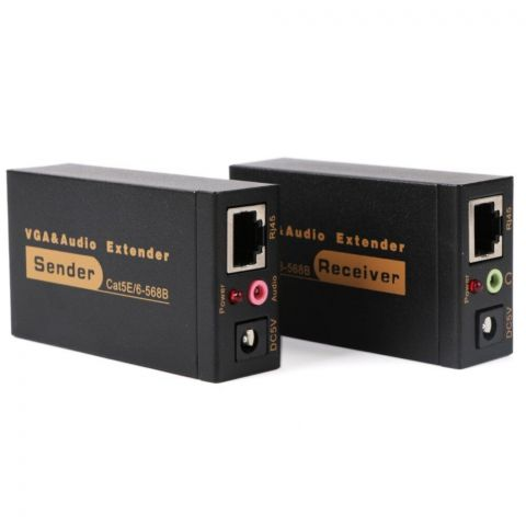 VGA 100m Extender With Power Supply