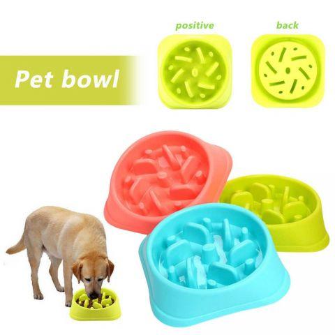 Dog Food Slow Feeder Puzzle Bowl