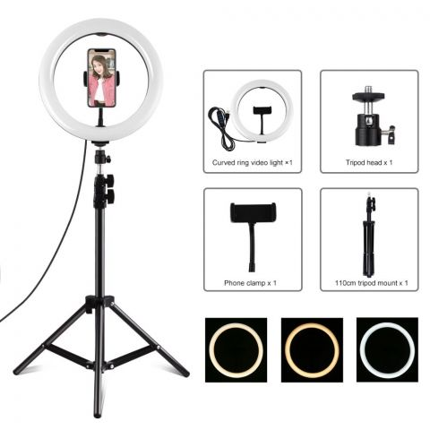 26cm Selfie Ring Light With 1.1m Tripod Stand