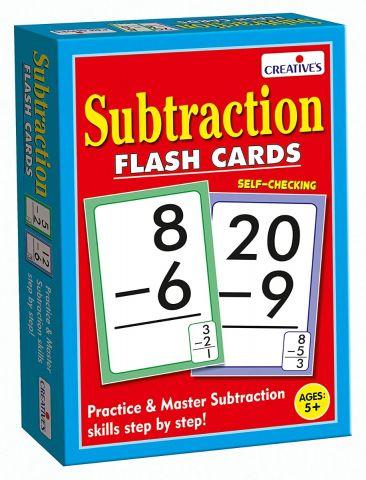 Educational Subtraction - Flash Card