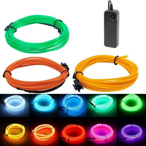 5M EL Wire LED Neon Strip Light