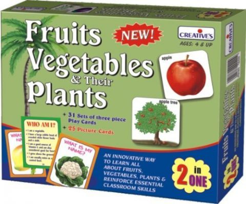 Vegetables and Their Plants Card Game
